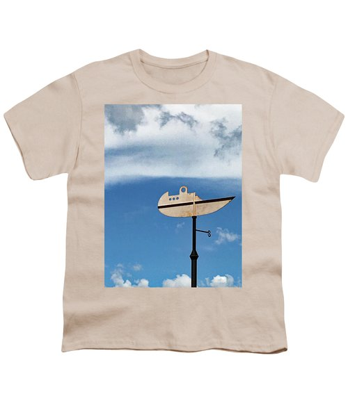 Boat In The Clouds Youth T-Shirt by Sandy Taylor