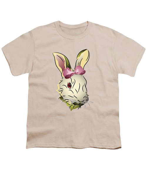 Bunny Rabbit With A Pink Bow Youth T-Shirt