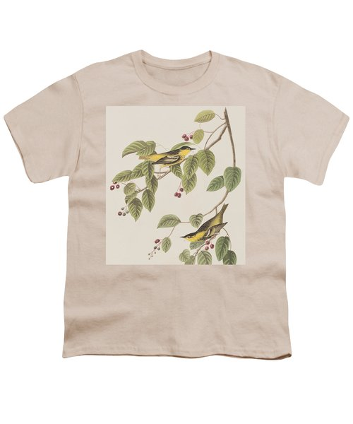 Carbonated Warbler Youth T-Shirt by John James Audubon