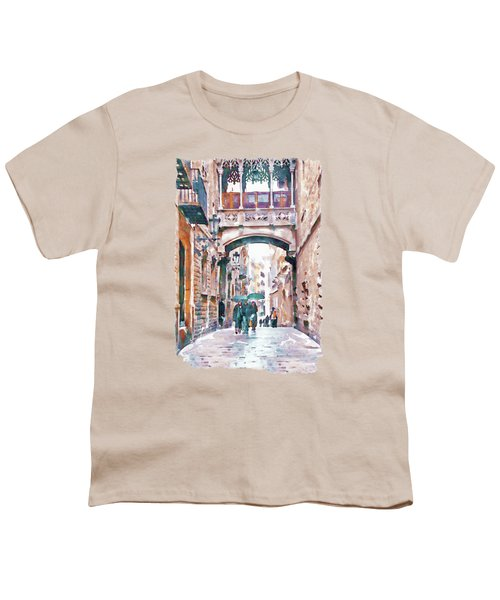 Carrer Del Bisbe - Barcelona Youth T-Shirt by Marian Voicu