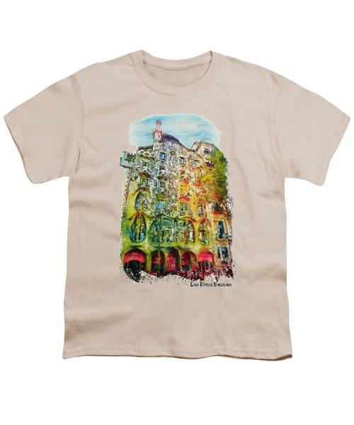 Casa Batllo Barcelona Youth T-Shirt by Marian Voicu