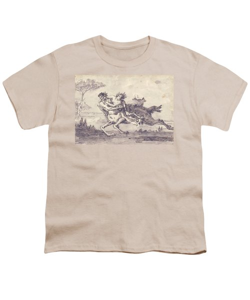 Centaur Abducting A Satyress Youth T-Shirt