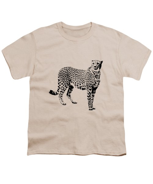 Cheetah Cutout Youth T-Shirt by Greg Noblin