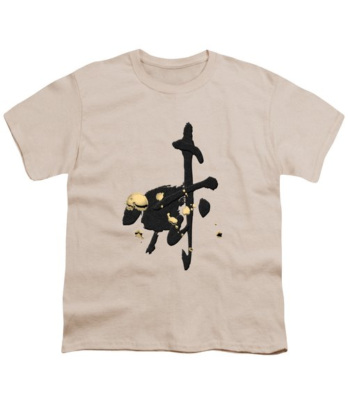 Chinese Zodiac - Year Of The Goat On Rice Paper Youth T-Shirt