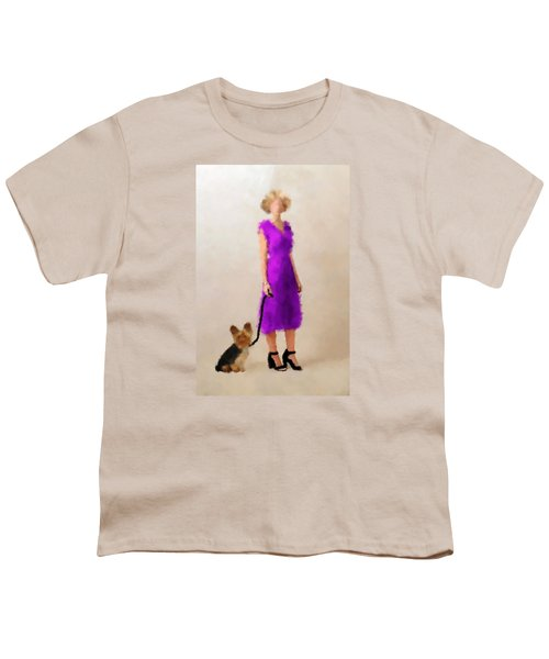 Youth T-Shirt featuring the digital art Christina by Nancy Levan