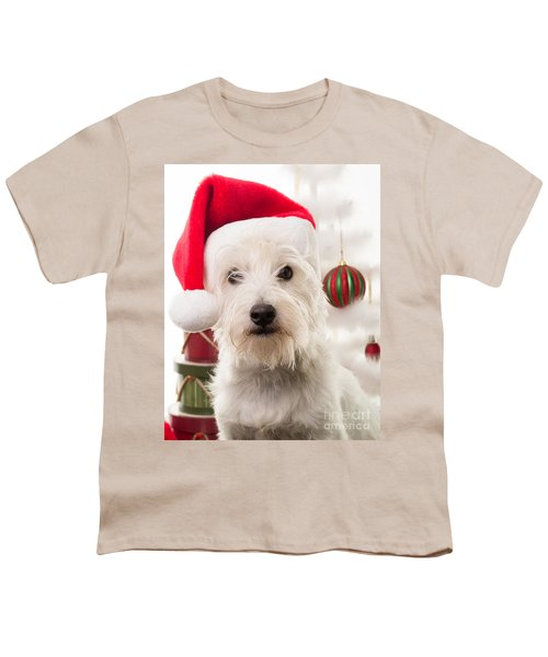 Christmas Elf Dog Youth T-Shirt