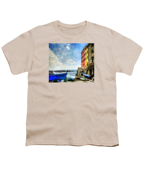Cinque Terre - Little Port Of Riomaggiore - Vintage Version Youth T-Shirt