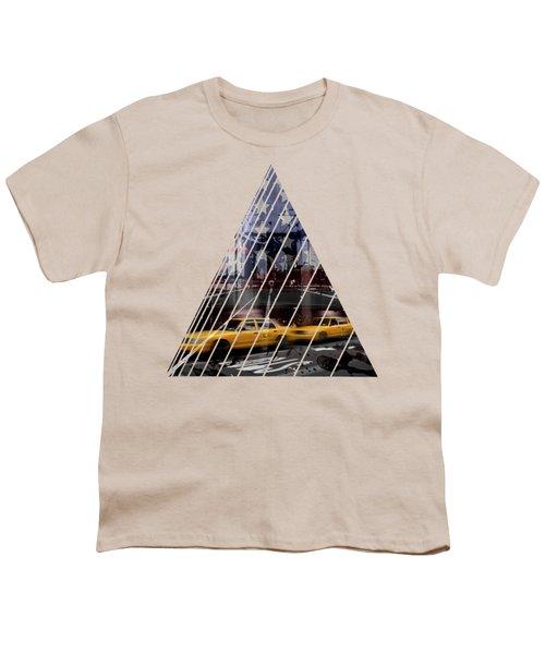 City-art Nyc Composing Youth T-Shirt by Melanie Viola