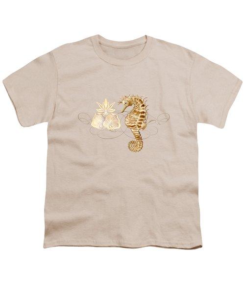 Coastal Waterways - Seahorse Rectangle 2 Youth T-Shirt