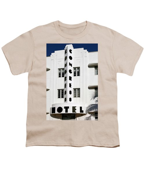 Congress Hotel. Miami. Fl. Usa Youth T-Shirt