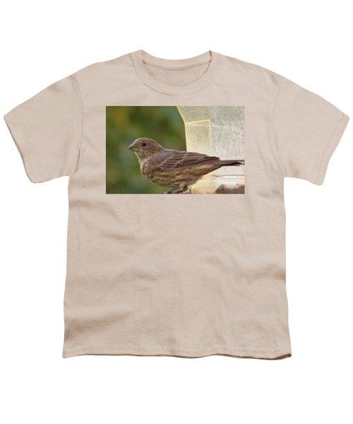 Crossbill Female Portrait      September    Indiana Youth T-Shirt