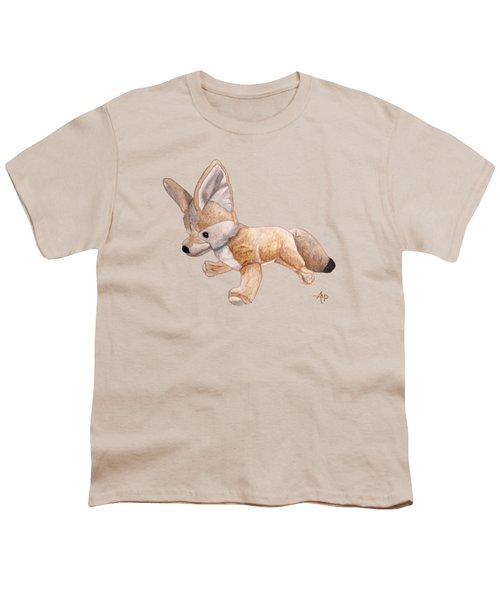 Cuddly Snow Fox Youth T-Shirt