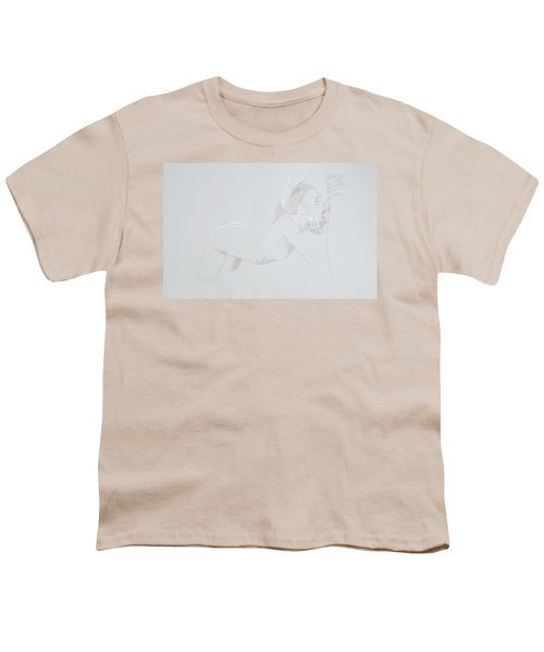 Youth T-Shirt featuring the mixed media Deepthroat by TortureLord Art