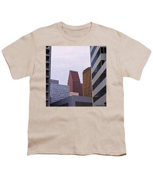 #downtown #houston On A Gloomy Cold Youth T-Shirt