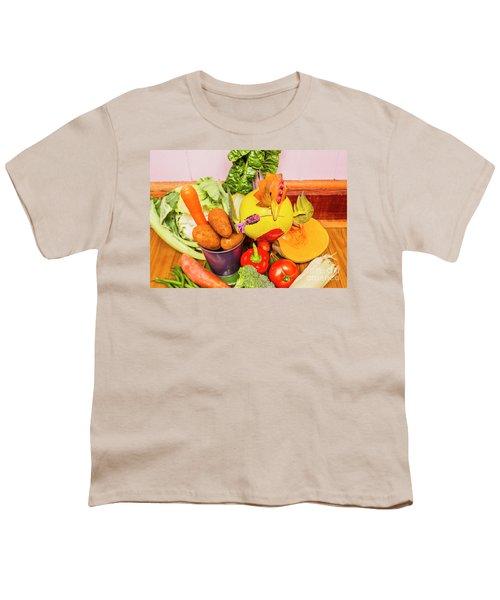 Farm Fresh Produce Youth T-Shirt by Jorgo Photography - Wall Art Gallery