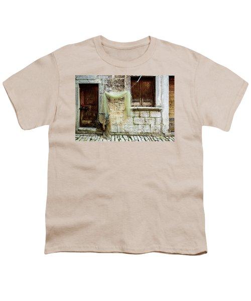 Fishing Net Hanging In The Streets Of Rovinj, Croatia Youth T-Shirt