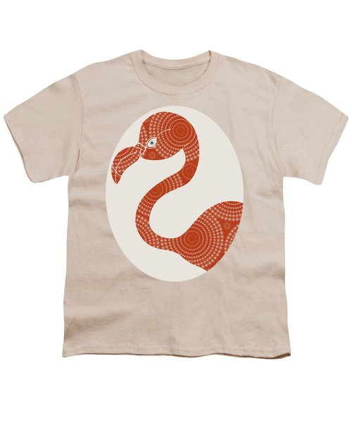 Floral Flamingo Youth T-Shirt by Frank Tschakert