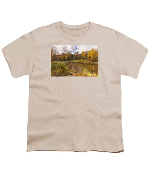 Youth T-Shirt featuring the photograph Franconia Iron Works by Anthony Baatz