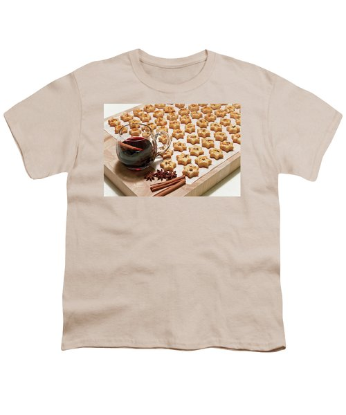 Freshly Baked Cheese Cookies And Hot Wine Youth T-Shirt