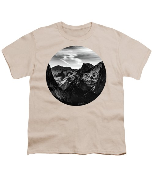 Frozen, Black And White Youth T-Shirt by Adam Morsa
