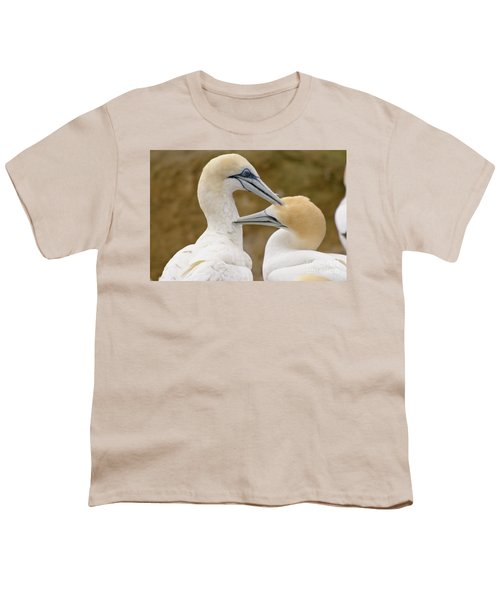 Youth T-Shirt featuring the photograph Gannet Pair 1 by Werner Padarin