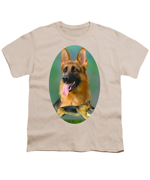 German Shepherd Breed Art Youth T-Shirt
