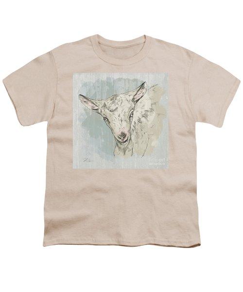 Goat Portrait-farm Animals Youth T-Shirt