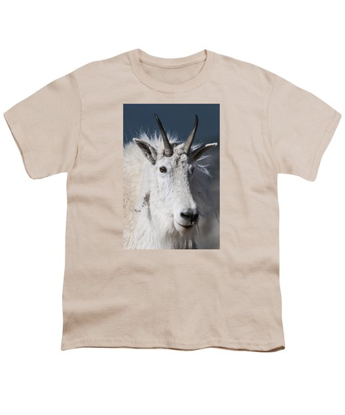 Goat Portrait Youth T-Shirt by Gary Lengyel