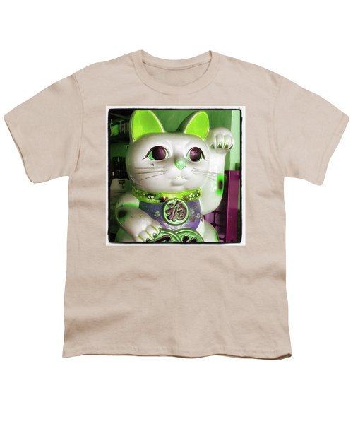 Youth T-Shirt featuring the photograph Good Meowning. I Feel So Lucky Today by Mr Photojimsf