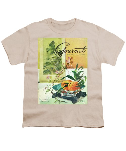 Gourmet Cover Featuring A Bowl Of Peaches Youth T-Shirt