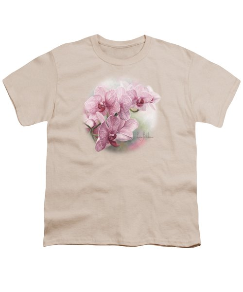 Graceful Orchids Youth T-Shirt by Lucie Bilodeau