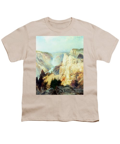 Grand Canyon Of The Yellowstone Park Youth T-Shirt by Thomas Moran
