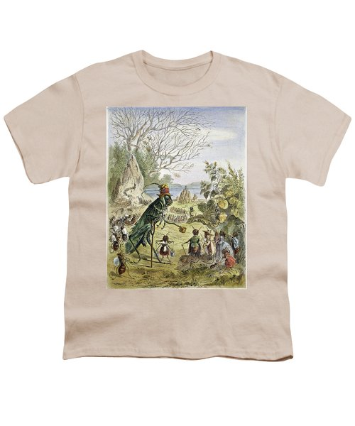 Grasshopper And Ant Youth T-Shirt by Granger