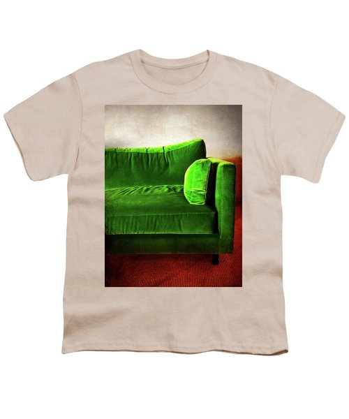 Green Retro Sofa In A Room Youth T-Shirt