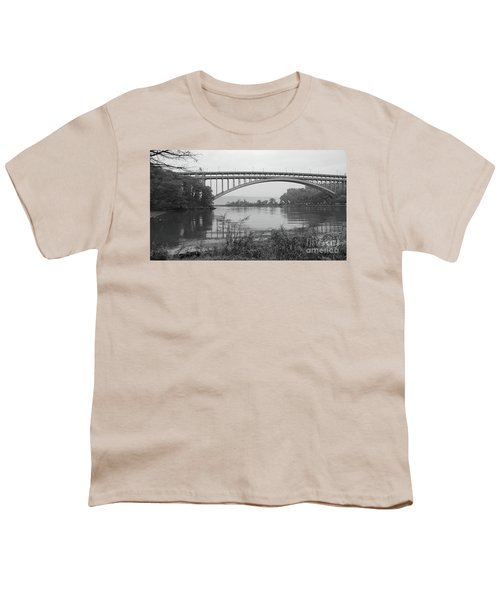 Henry Hudson Bridge  Youth T-Shirt by Cole Thompson