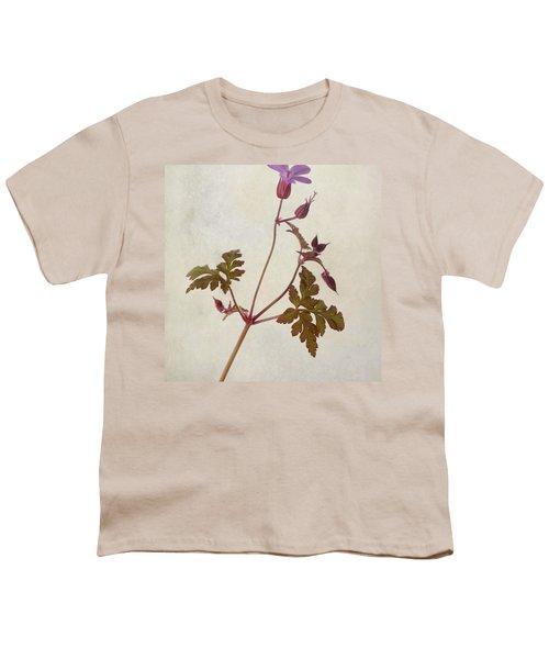 Herb Robert - Wild Geranium  #flower Youth T-Shirt by John Edwards