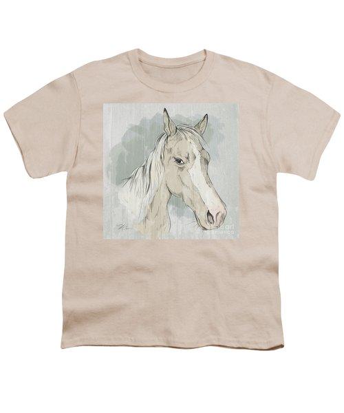 Horse Portrait-farm Animals Youth T-Shirt