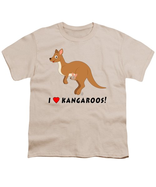 I Love Kangaroos Youth T-Shirt by A