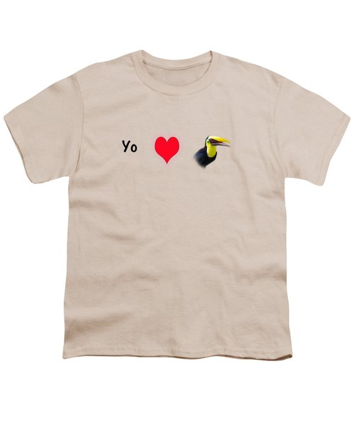 I Love Toucans Youth T-Shirt by Paul  Gerace