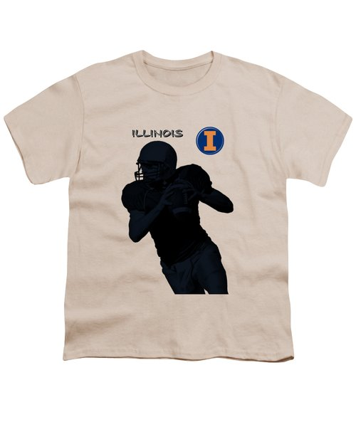 Illinois Football Youth T-Shirt by David Dehner