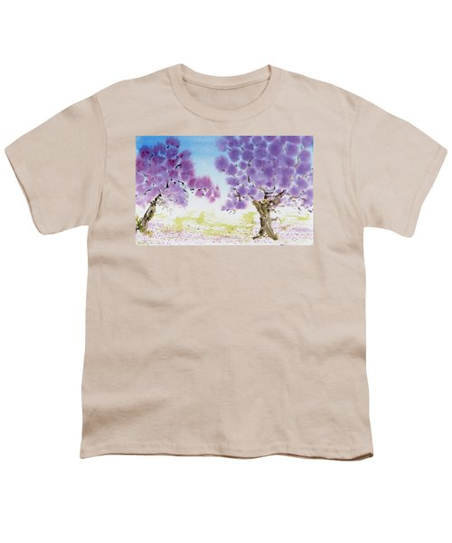 Jacaranda Trees Blooming In Buenos Aires, Argentina Youth T-Shirt