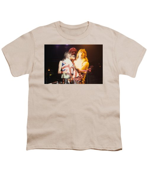 Joe And Phil Of Def Leppard Youth T-Shirt by Rich Fuscia