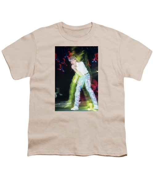 Joe Elliott Of Def Leppard Youth T-Shirt by Rich Fuscia