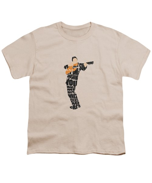 Johnny Cash Typography Art Youth T-Shirt