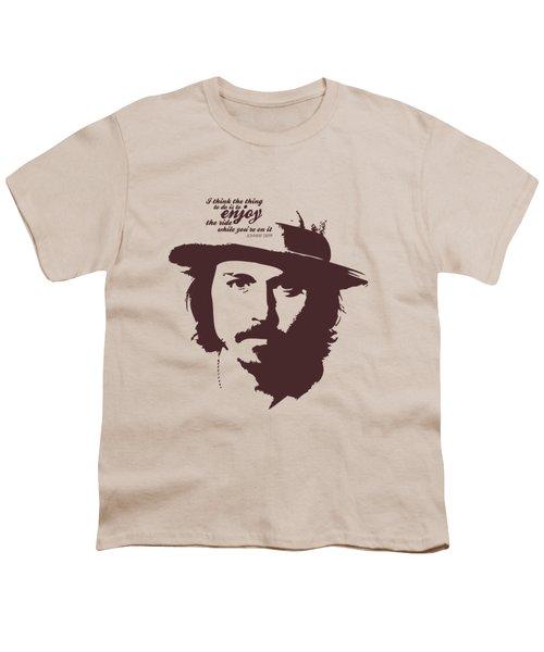 Johnny Depp Minimalist Poster Youth T-Shirt