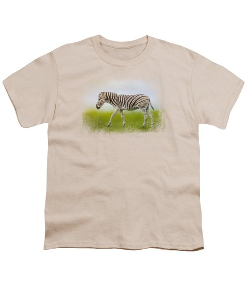 Journey Of The Zebra Youth T-Shirt by Jai Johnson