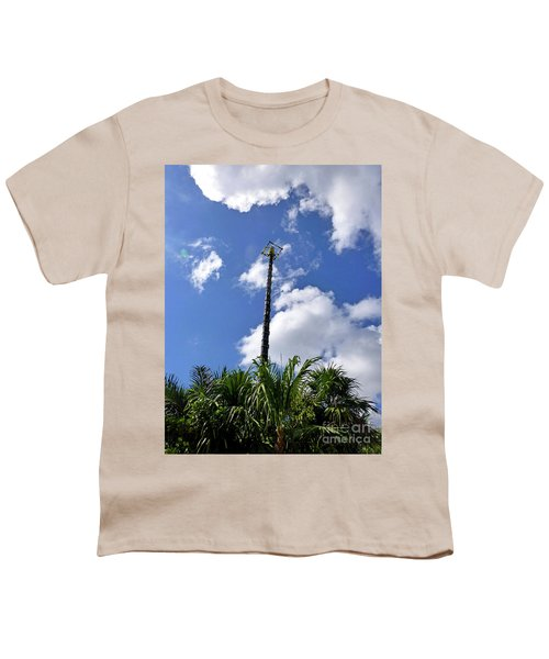 Youth T-Shirt featuring the photograph Jungle Bungee Tower by Francesca Mackenney