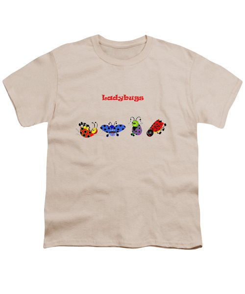 Ladybugs T-shirt Youth T-Shirt by Karen Beasley