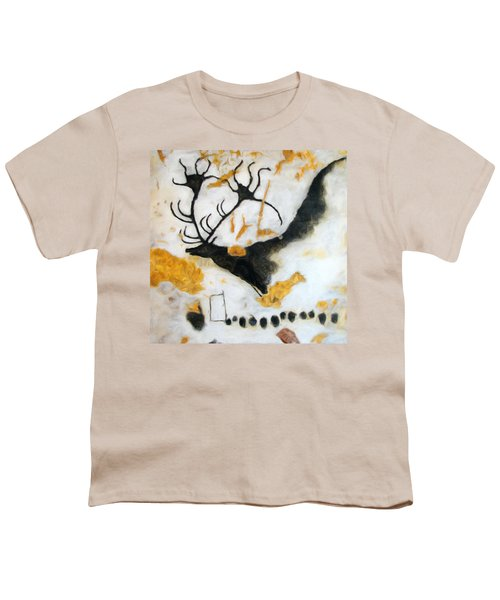 Lascaux Megaceros Deer Youth T-Shirt