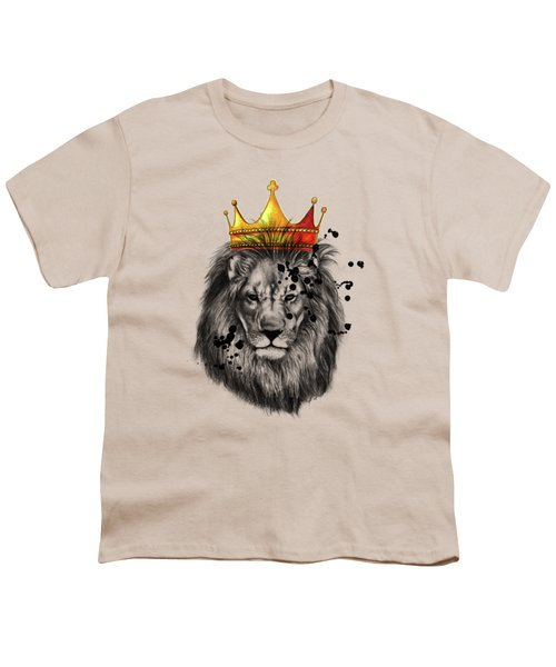 Lion King  Youth T-Shirt by Mark Ashkenazi